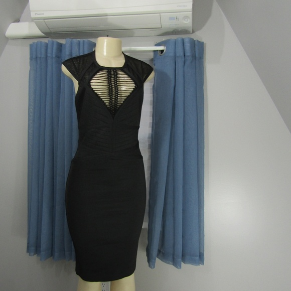 WOW COUTURE Dresses & Skirts - WOW COUTURE BLK BANDAGE BODYCON DRESS